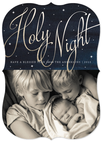 holiday photo cards - O Holy Night by Elly