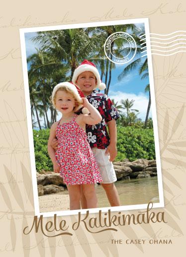 holiday photo cards - Mele Kalikimaka by Melissa Casey