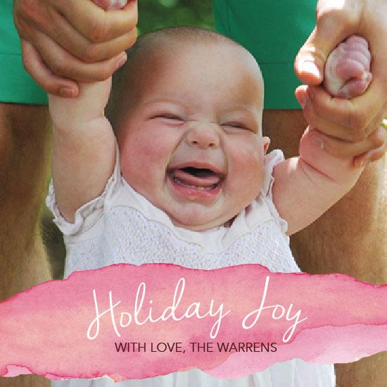 holiday photo cards - watercolor holiday by Lindsey Atnip