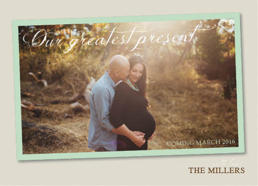 holiday photo cards - Expecting Couple by Lindsey Atnip