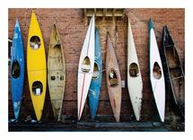 Kayaks on the Wall by Jenny Folman