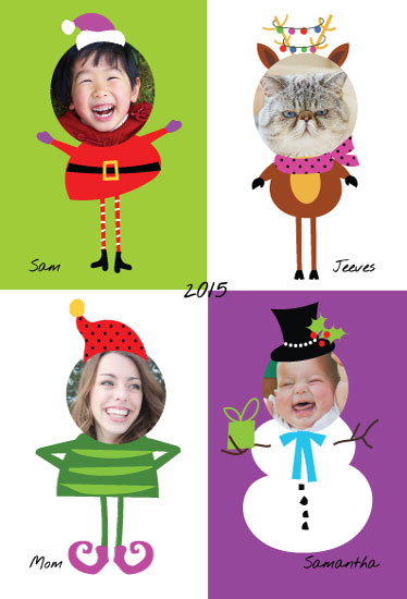 holiday photo cards - Funky Christmas Family by A Tina Beans