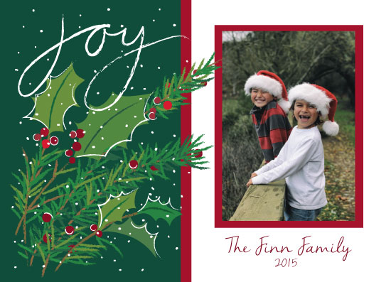 holiday photo cards - Joy at Christmas by A Tina Beans