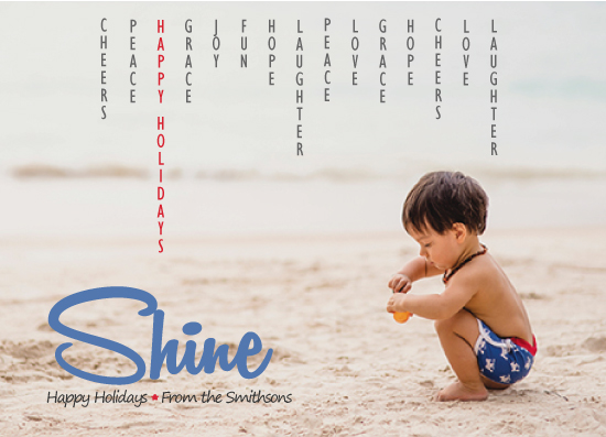 holiday photo cards - Shine by Dar Gold
