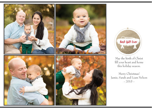 holiday photo cards - Best Gift Ever by frances barra