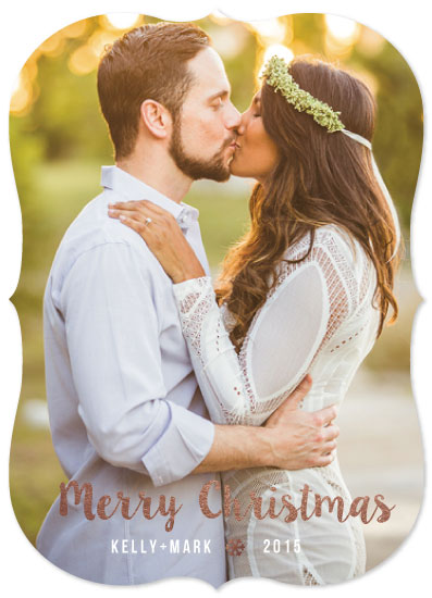 holiday photo cards - Rosey Newlyweds by Candice Andersen