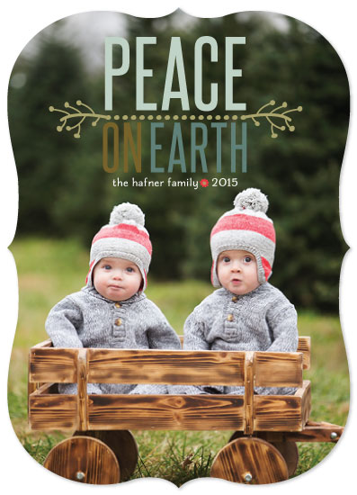 holiday photo cards - Peace in a Pod by Jane Snider