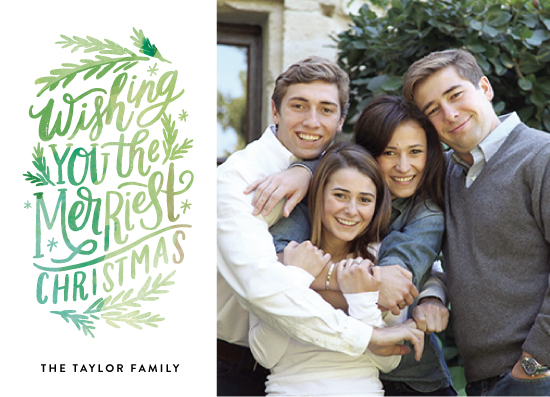 holiday photo cards - Merriest Lettering by Alethea and Ruth