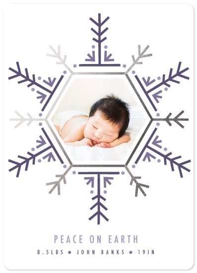 holiday photo cards - Snowflake Baby by Rose Design