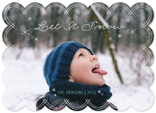 holiday photo cards - Winter Snowfall by Rose Design