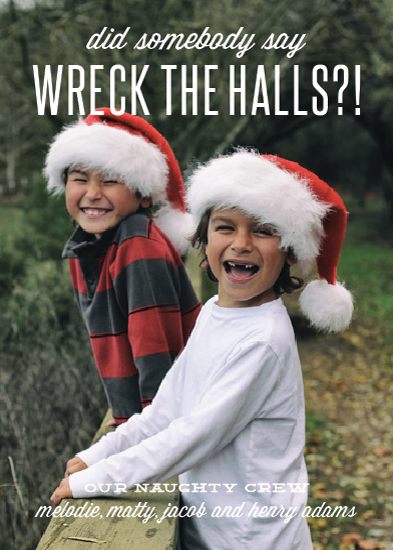 holiday photo cards - wreck the halls by Sara Hicks Malone