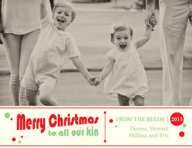 holiday photo cards - A Retro Christmas by Laura Lea