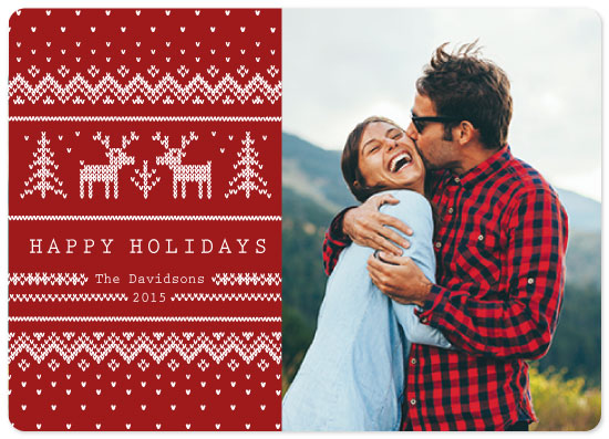 holiday photo cards - Sweater Weather by Rose Design