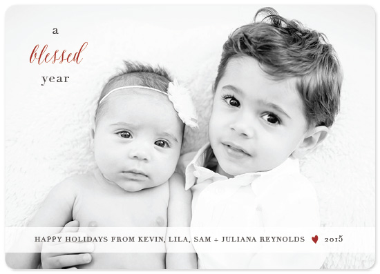 holiday photo cards - A Blessed Year by Marie Chang