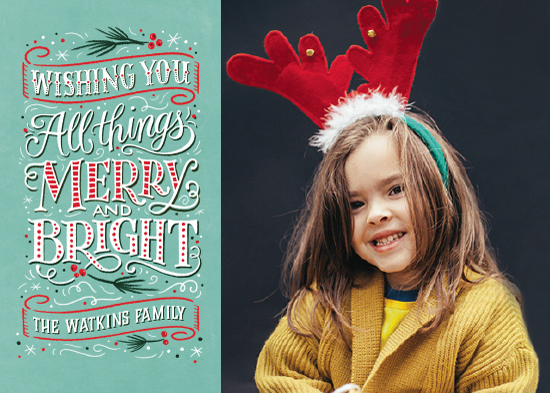 holiday photo cards - All Things Merry and Bright by Laura Bolter Design