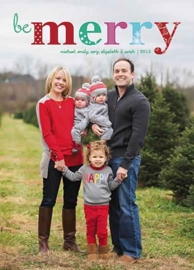 holiday photo cards - Be Very Merry! by Marlie Renee