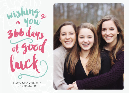 holiday photo cards - 366 days of good luck by Helen H Wu