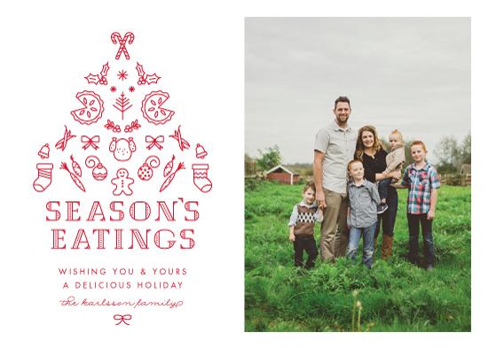 holiday photo cards - Season's Eatings by Ling Wang