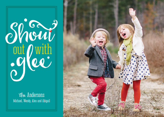 holiday photo cards - Shout Out with Glee by Mandy Porta