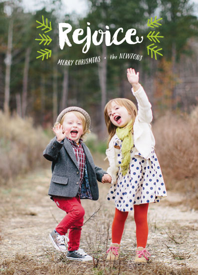 holiday photo cards - rejoicing pines by blackberry graphics