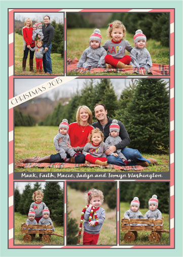 holiday photo cards - Minty Christmas by frances barra