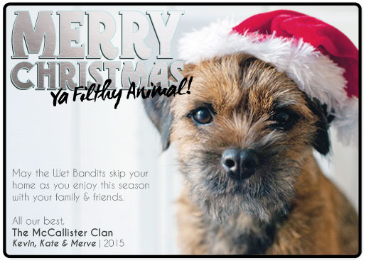 holiday photo cards - Ya Filthy Animal by frances barra