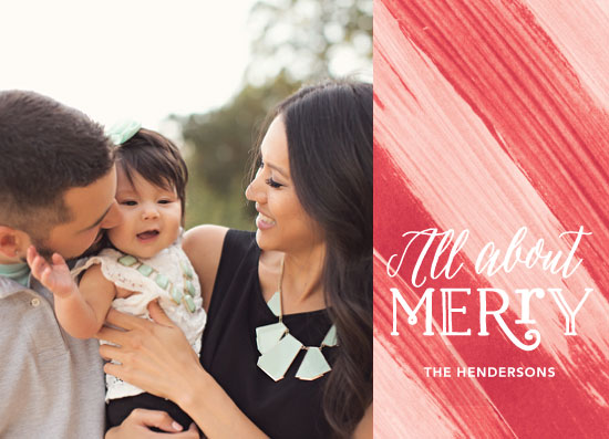 holiday photo cards - all about merry by Baumbirdy