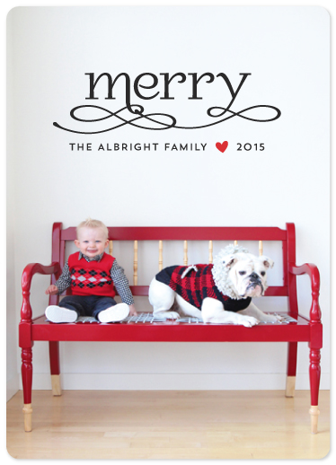 holiday photo cards - Merry Swashes by Melissa Casey