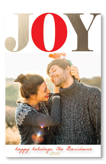 holiday photo cards - Love and Joy by Erricca DeGraffenreidt