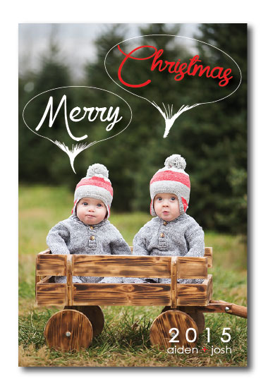 holiday photo cards - Merry Thoughts by Erricca DeGraffenreidt