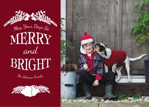 holiday photo cards - May Your Days Be Merry by Laura Lea