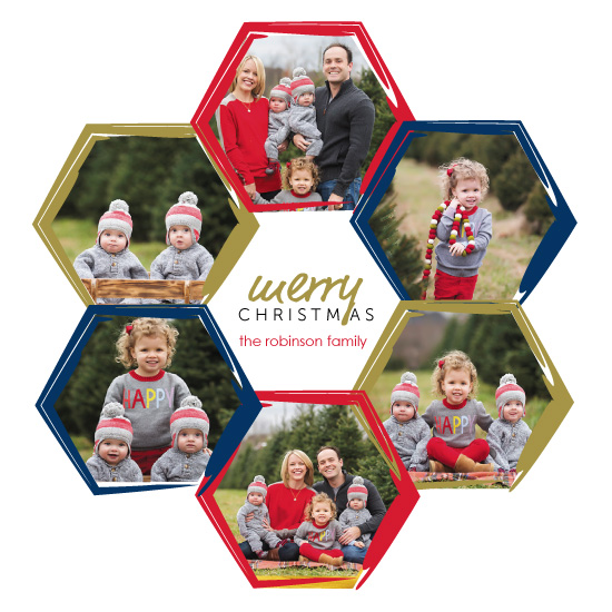 holiday photo cards - Artsy Holiday Family by Amanda Majorsky