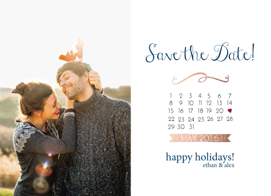 holiday photo cards - Holiday Save The Date by Amanda Majorsky