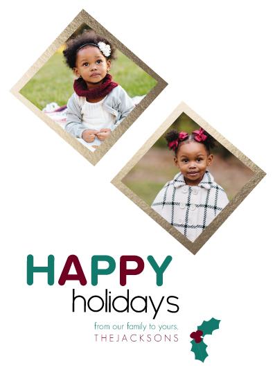 holiday photo cards - Holly Jolly Family Holiday by Amanda Majorsky