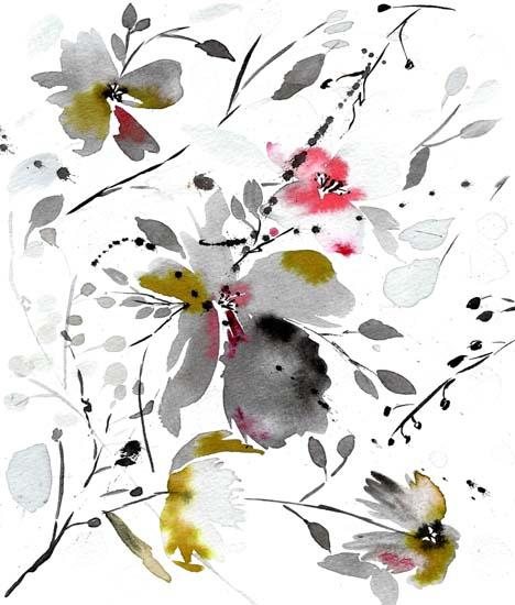 art prints - black flower by Tae Lee