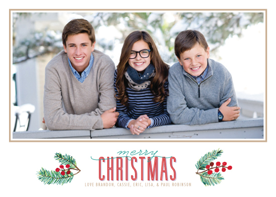 holiday photo cards - Holly and Pine by Ling Wang