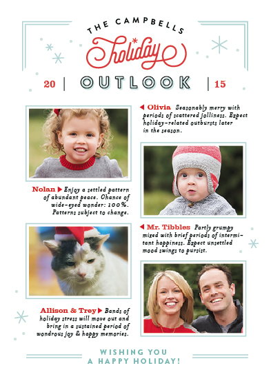 holiday photo cards - Holiday Forecast by Jennifer Wick