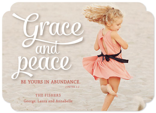 holiday photo cards - Grace and Peace by Lauren Young