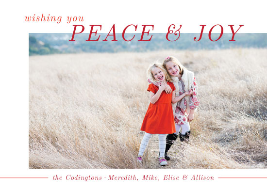 holiday photo cards - Modern Peace and Joy by Green Fingerprint