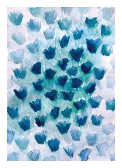 art prints - Floating Petals by Rachel Milaschewski