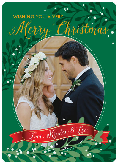holiday photo cards - Mistletoe by April Lammers