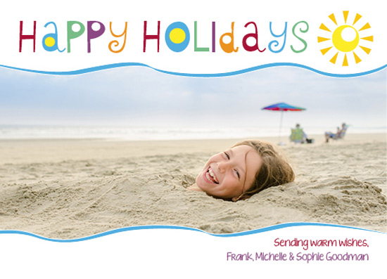 holiday photo cards - Sending Warm Holiday Wishes by Marlie Renee