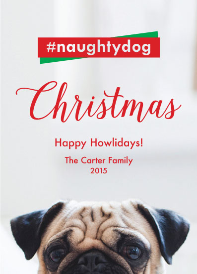 holiday photo cards - Naughty Dog by April Lammers