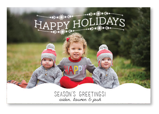 holiday photo cards - Waves in December by Erricca DeGraffenreidt