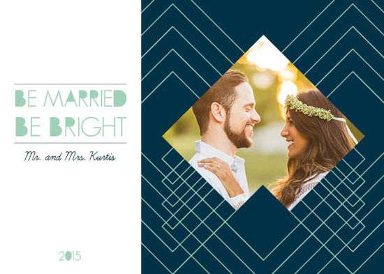 holiday photo cards - Married Bright by Paula Riley