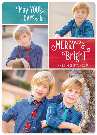 holiday photo cards - Merry & Bright Collage by Lauren Young