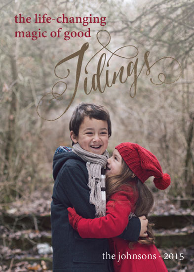 holiday photo cards - Magic Tidings by hatley