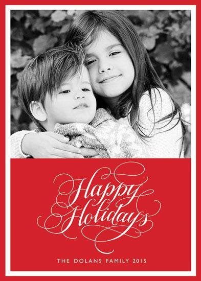 holiday photo cards - Calligraphy Holiday Greeting by Deborah Nadel
