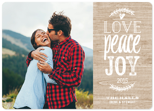 holiday photo cards - Vintage Rustic by Stefanie Chu