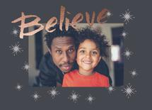 Believe Holiday Card by Kristin Modjeska-Holt